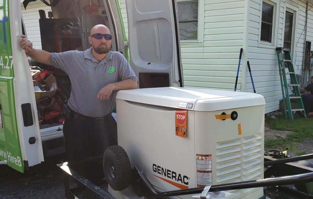 HVAC Services in Greer South Carolina - AC Unit on a Dolly
