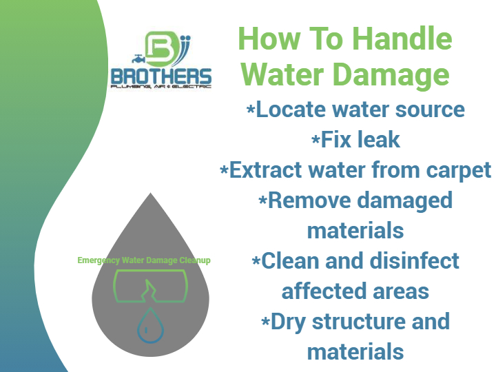 Water Damage Clean-Up by Brothers Plumbing, Air and Electric