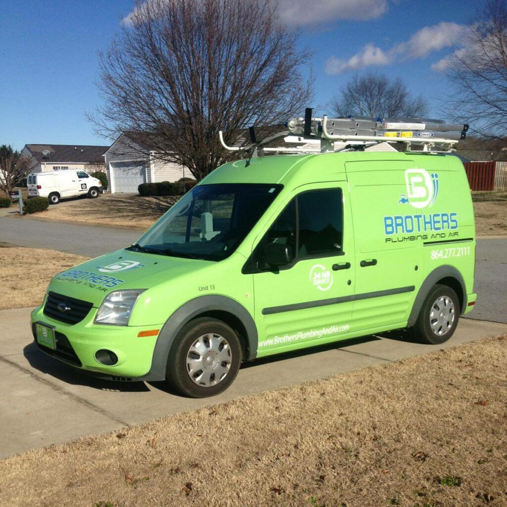Brothers Plumbing, Air, and Electric service Truck